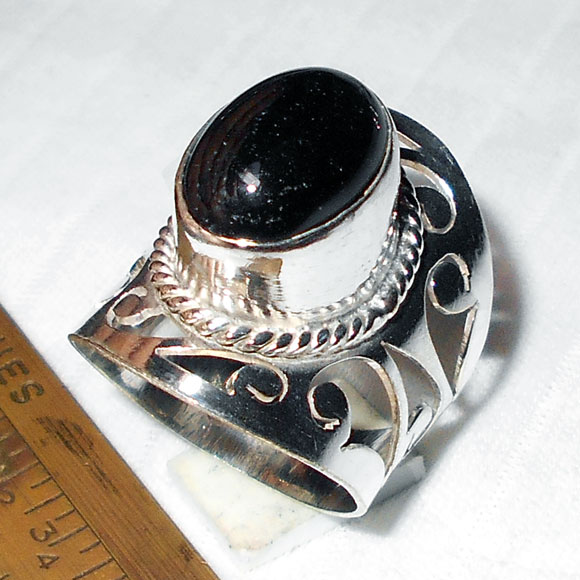Black onyx G - WMR993- Latest Designs Fashion silver Plating Rings with white m