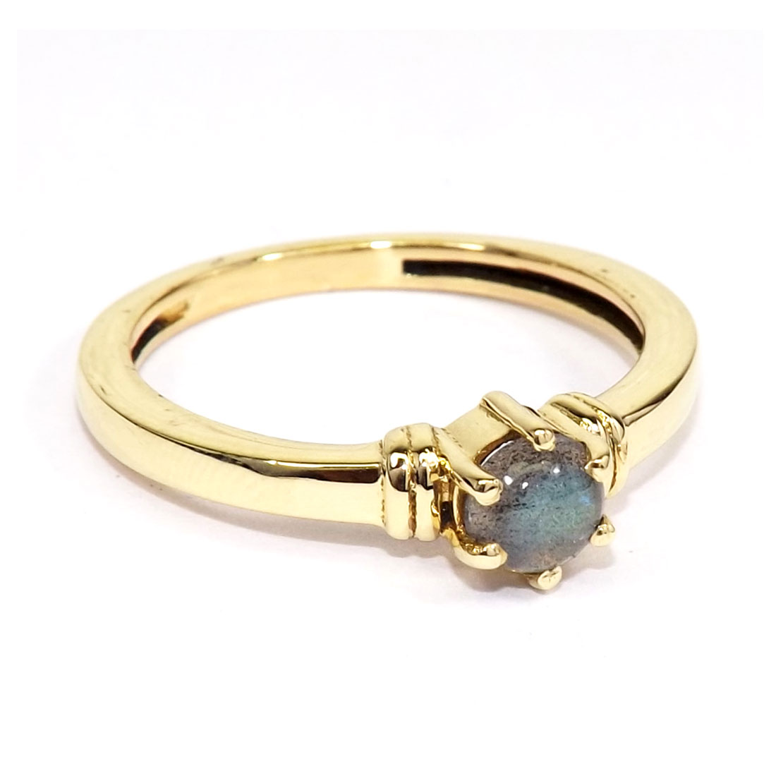 Labradorite Cab A - CBR981-Wholesale Brass Gemstone Designer Fashion Casting Rings