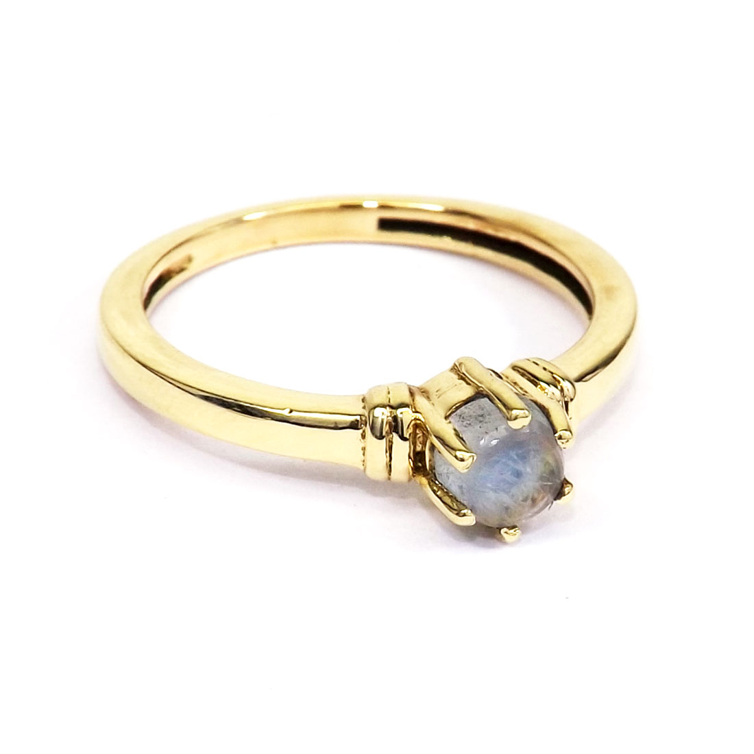 Rainbow Moonstone Cab B - CBR981-Wholesale Brass Gemstone Designer Fashion Casting Rings