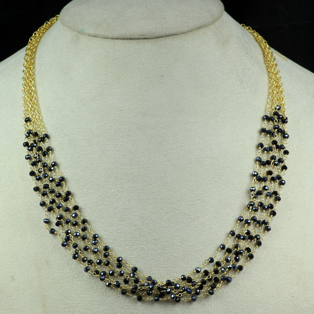 Black Colour I - BD991-New Indian Designer Wholesale Handmade Brass Neckless